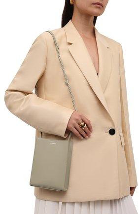Женская сумка tangle small JIL SANDER светло-серого цвета, арт. JSPT853173-WTB69159N   Фото 2