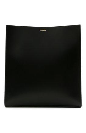 Женская сумка tangle large JIL SANDER черного цвета, арт. JSPT853420-WTB69158N | Фото 1 (Размер: large; Материал: Натуральная кожа; Сумки-технические: Сумки через плечо)