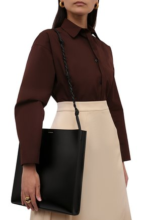 Женская сумка tangle large JIL SANDER черного цвета, арт. JSPT853420-WTB69158N   Фото 2