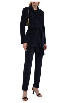 Женские брюки KITON темно-синего цвета, арт. D37102K01T27   Фото 2