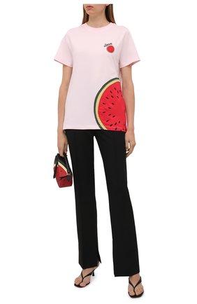 Женская хлопковая футболка loewe x paula's ibiza LOEWE розового цвета, арт. S616Y22X19 | Фото 2 (Материал внешний: Хлопок; Длина (для топов): Стандартные; Рукава: Короткие; Стили: Кэжуэл)