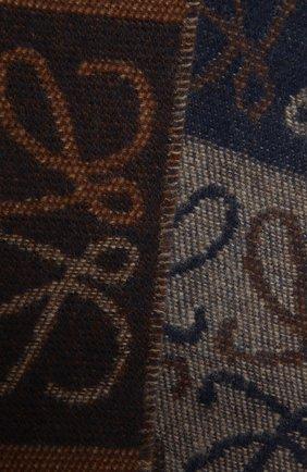 Женский шерстяной шарф LOEWE коричневого цвета, арт. F810487X17 | Фото 2