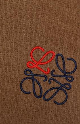 Женский кашемировый шарф LOEWE темно-бежевого цвета, арт. F000914X04 | Фото 2