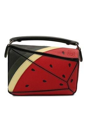 Женская сумка puzzle mini LOEWE красного цвета, арт. A510U95X38 | Фото 1