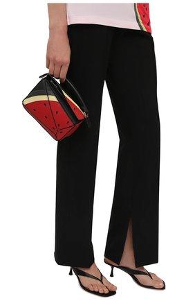 Женская сумка puzzle mini LOEWE красного цвета, арт. A510U95X38 | Фото 2