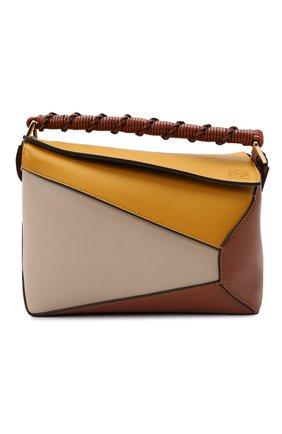 Женская сумка puzzle small LOEWE желтого цвета, арт. A510P60X06 | Фото 1