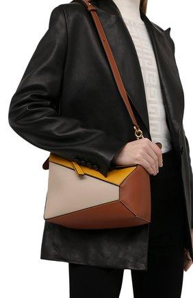 Женская сумка puzzle small LOEWE желтого цвета, арт. A510P60X06 | Фото 2