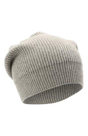 Женская шапка из кашемира и шерсти BRUNELLO CUCINELLI светло-серого цвета, арт. MBM755889   Фото 1 (Материал: Кашемир, Шерсть)