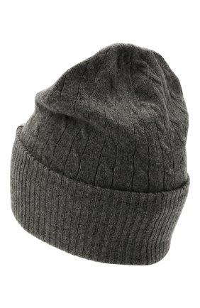 Женская кашемировая шапка BRUNELLO CUCINELLI серого цвета, арт. M12182889   Фото 2 (Материал: Шерсть, Кашемир)