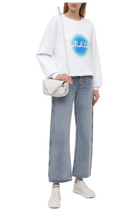 Женские текстильные кроссовки KITON молочного цвета, арт. DSSFITSN00810 | Фото 2 (Материал внутренний: Натуральная кожа; Подошва: Платформа; Материал внешний: Текстиль)