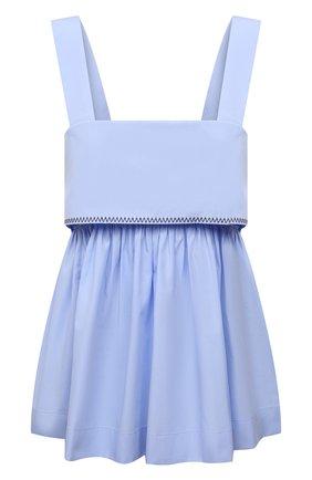 Женский хлопковый топ CHLOÉ голубого цвета, арт. CHC21AHT67044   Фото 1