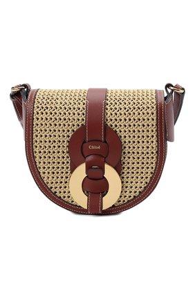 Женская сумка darryl CHLOÉ коричневого цвета, арт. CHC21US344E49   Фото 1