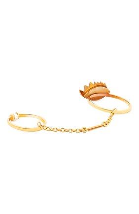 Женские кольцо DELFINA DELETTREZ бесцветного цвета, арт. ANA1014.B | Фото 2