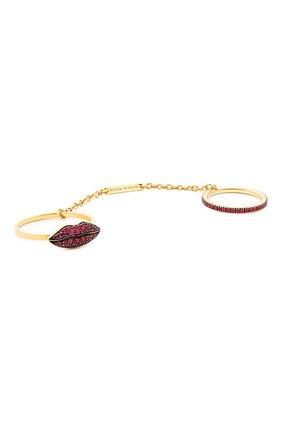 Женские кольцо DELFINA DELETTREZ бесцветного цвета, арт. ANA1014.F | Фото 1