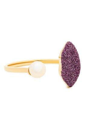 Женские кольцо DELFINA DELETTREZ бесцветного цвета, арт. ANA1017.G | Фото 1