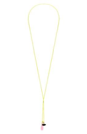 Женские колье DELFINA DELETTREZ бесцветного цвета, арт. ANA3019.B | Фото 1