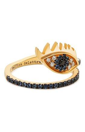 Женские кольцо DELFINA DELETTREZ бесцветного цвета, арт. HND1008.G | Фото 1