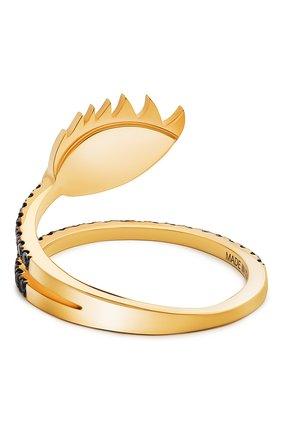 Женские кольцо DELFINA DELETTREZ бесцветного цвета, арт. HND1008.G | Фото 2