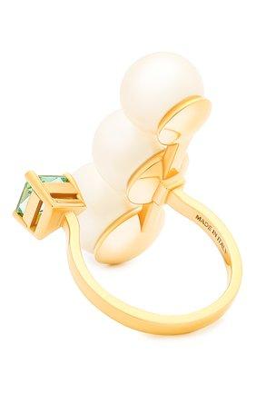 Женские кольцо DELFINA DELETTREZ бесцветного цвета, арт. HND1009.A | Фото 2