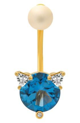Женские серьга DELFINA DELETTREZ бесцветного цвета, арт. MGT5001.E(BLUE) | Фото 1