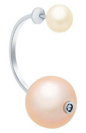 Женские серьга DELFINA DELETTREZ бесцветного цвета, арт. NTL5001.E | Фото 2