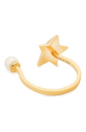 Женские кольцо DELFINA DELETTREZ бесцветного цвета, арт. STAR1001.A | Фото 2