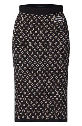 Женская юбка LOUIS VUITTON черного цвета, арт. 1A93IC | Фото 1
