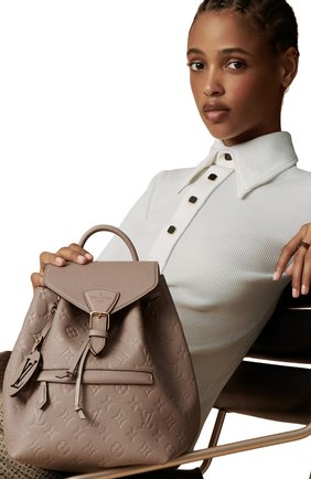 Женский рюкзак montsouris LOUIS VUITTON бежевого цвета, арт. M45410 | Фото 2