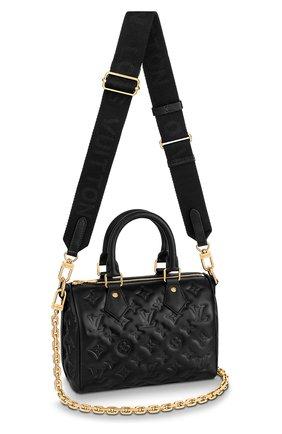 Женская сумка speedy 22 LOUIS VUITTON черного цвета, арт. M58631 | Фото 1