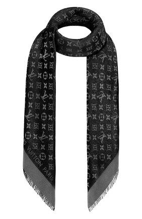 Женская шаль monogram shine LOUIS VUITTON серого цвета, арт. M75123 | Фото 1