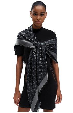 Женская шаль monogram shine LOUIS VUITTON серого цвета, арт. M75123 | Фото 2