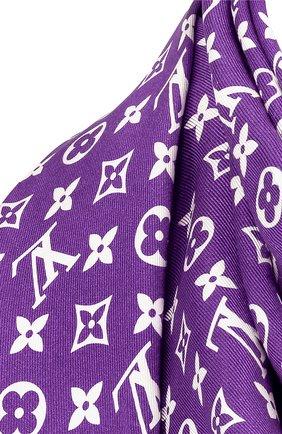 Женская шелковая шаль lv now double face LOUIS VUITTON фиолетового цвета, арт. MP3088 | Фото 2