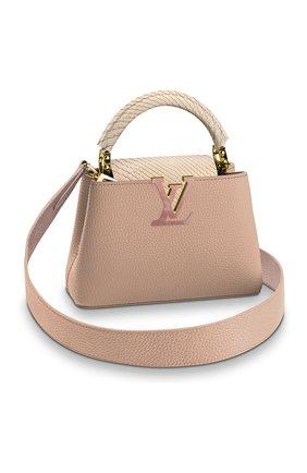 Женская сумка capucines mini LOUIS VUITTON розового цвета, арт. N99731 | Фото 1