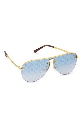 Женские солнцезащитные очки LOUIS VUITTON золотого цвета, арт. Z1470U | Фото 1