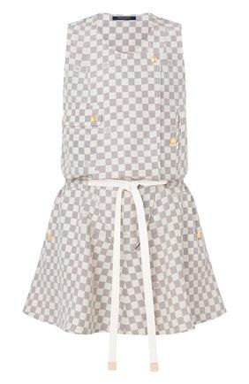 Женское шелковое платье LOUIS VUITTON кремвого цвета, арт. 1A8RE1 | Фото 1