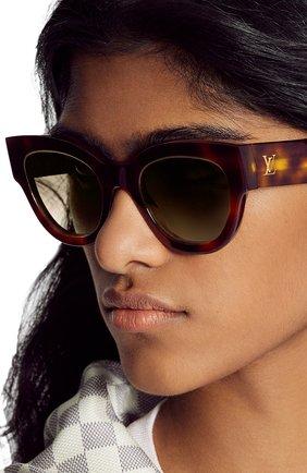 Женские солнцезащитные очки LOUIS VUITTON коричневого цвета, арт. Z1461W | Фото 2