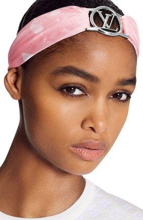 Женская шелковая ленка envy lv LOUIS VUITTON розового цвета, арт. M76782 | Фото 2