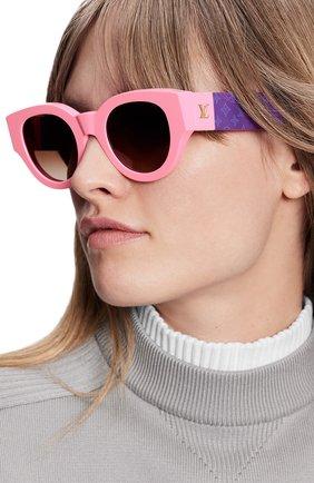 Женские солнцезащитные очки LOUIS VUITTON розового цвета, арт. Z1545W | Фото 2