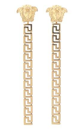 Женские серьги-подвески greca VERSACE золотого цвета, арт. 1000867/1A00620 | Фото 1