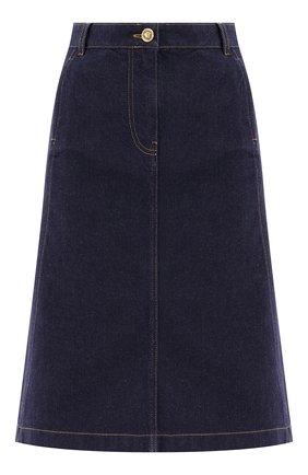 Женская джинсовая юбка VERSACE темно-синего цвета, арт. 1001246/1A00909   Фото 1