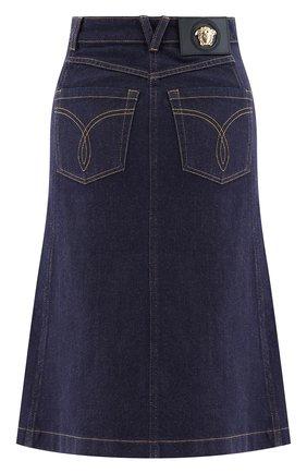Женская джинсовая юбка VERSACE темно-синего цвета, арт. 1001246/1A00909   Фото 2