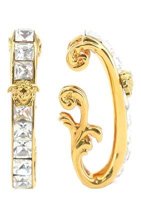 Женские серьги-каффы VERSACE золотого цвета, арт. 1001430/1A00621 | Фото 2