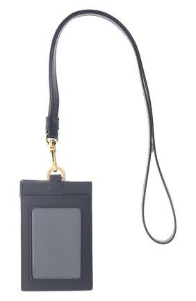 Женский кожаный футляр для кредитных карт VERSACE черного цвета, арт. DP3I100/DVIT5T   Фото 2