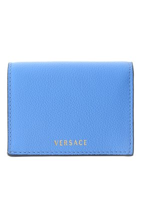 Женские кожаный кошелек la medusa VERSACE голубого цвета, арт. DPDI058/DVIT4T | Фото 2