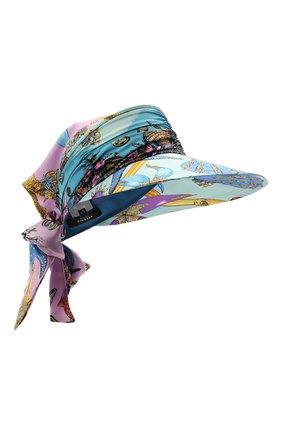 Женский шелковый козырек VERSACE голубого цвета, арт. ICAP025/1F00905 | Фото 1