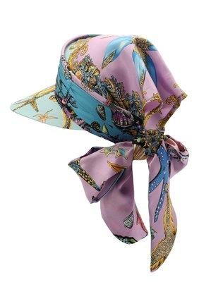 Женский шелковый козырек VERSACE голубого цвета, арт. ICAP025/1F00905 | Фото 2