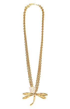 Женское колье SAINT LAURENT золотого цвета, арт. 660822/Y1505 | Фото 1