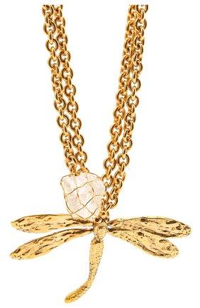 Женское колье SAINT LAURENT золотого цвета, арт. 660822/Y1505 | Фото 2