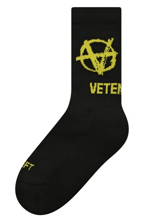 Женские хлопковые носки VETEMENTS черного цвета, арт. UA52S0300X 2906/W | Фото 1
