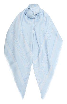 Женский шарф BURBERRY голубого цвета, арт. 8039437 | Фото 1